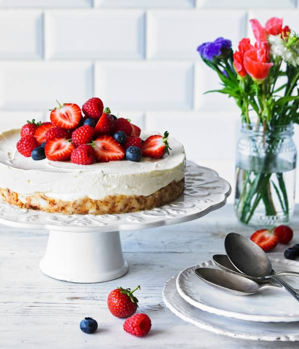 EASY SQUEEZY CHEESECAKE WITH COCONUT AND LEMON