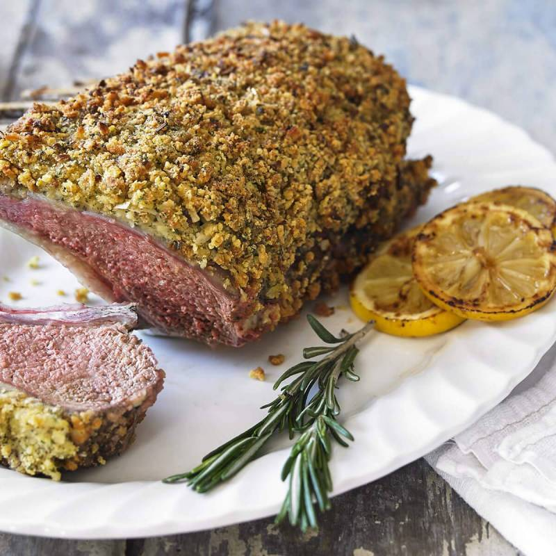 Rack or Leg of Lamb with Garlic, Parsley, Sage and Onion Crust