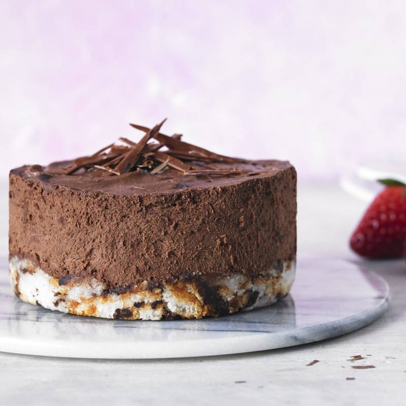 Deeply Decadent Chocaroon Mousse Cake